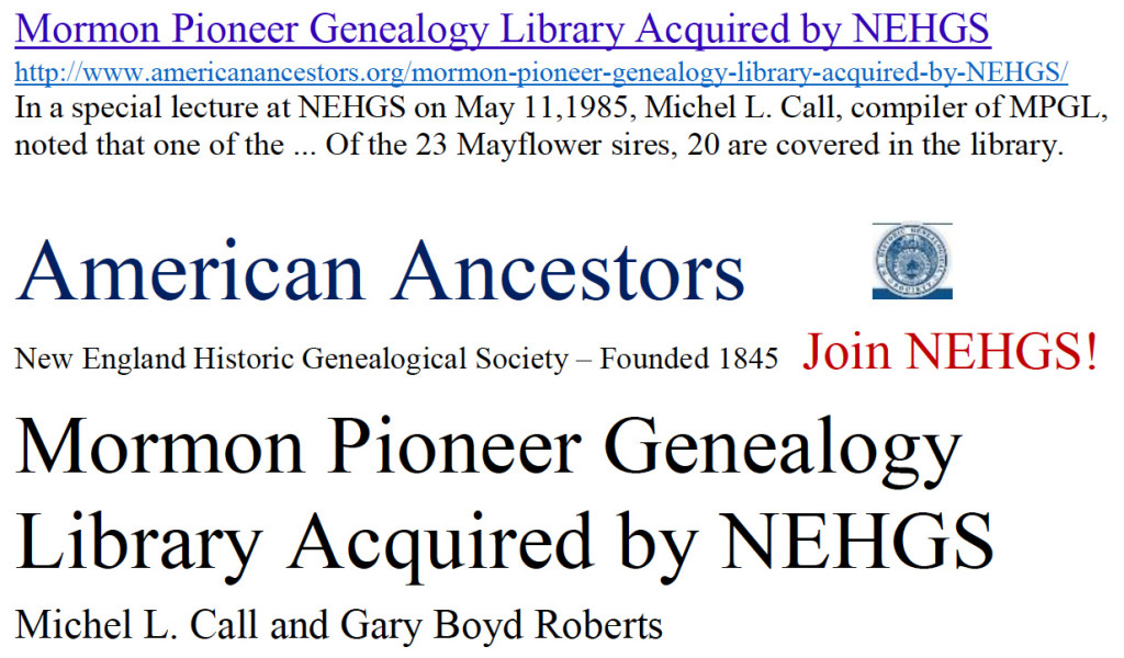 MPGL acquired by NEHGS